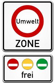 Znak informujący o strefie Umweltzone